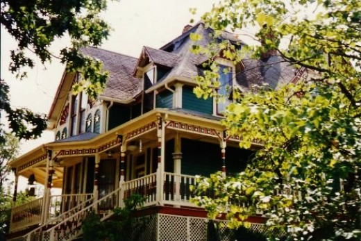 Victorian house in Eureka Springs, Arkansas