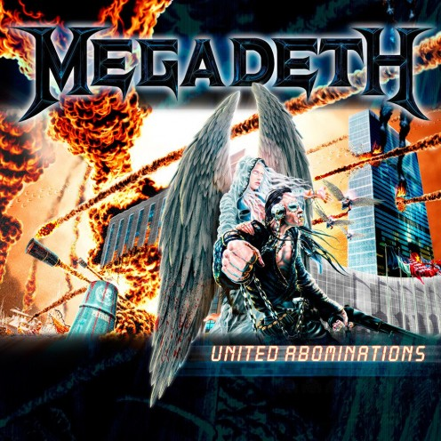 The album's cover has Elvis Presley on it in chains standing next to a winged creature as there are buildings that are being laid to waste in the background. The cover symbolizes the chaos in the US.