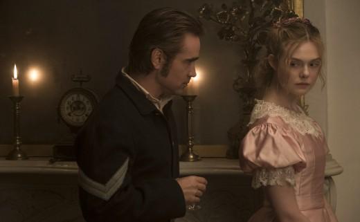 Corporal John McBurny (Colin Farrell) and Alicia (Elle Fanning)