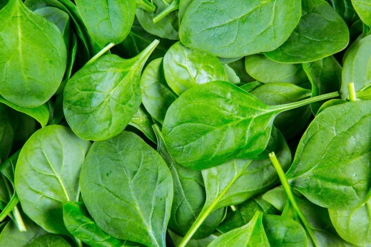 Spinach occupied the second position in the EWG's 2017 Dirty Dozen list.