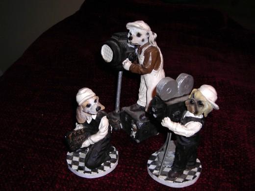 Doggy Film Crew - clay figurines