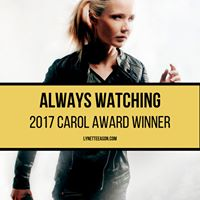 Always Watching Wins Prestigious Carol Award from American Christian Fiction Writers.