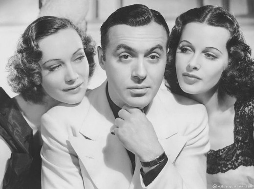 L. to R. : Sigrid Gurie, Charles Boyer & Hedy Lamarr - Publicity still for ''Algiers