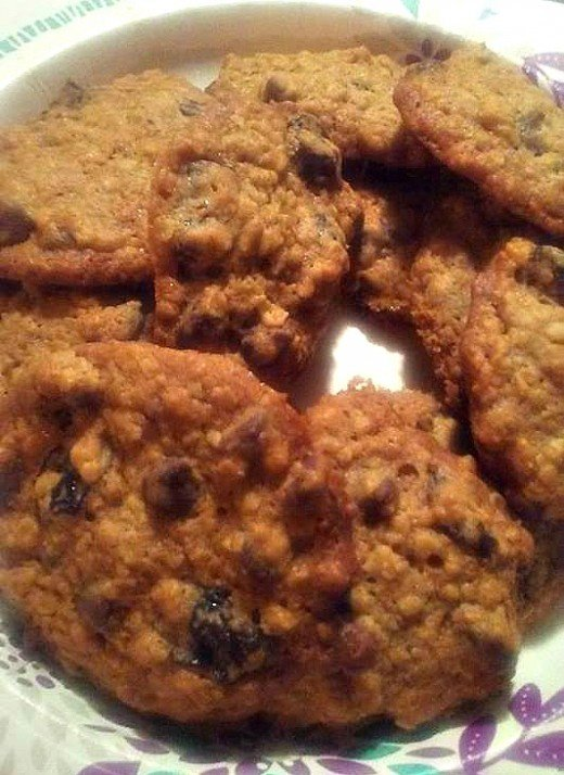 My take on a dried cherry and chocolate chip cookie.