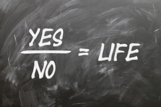 The tension point found between yes and no