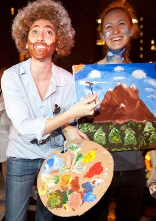 the bob ross halloween costume