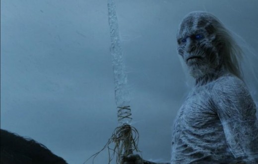 The Night King and the Ice Spear, like the one that killed Viserion