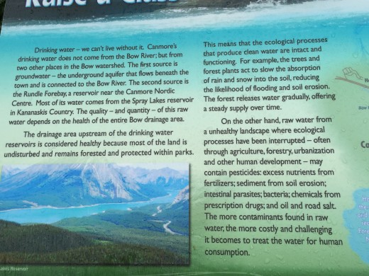 We found out where the drinking water comes from in Canmore, Canada