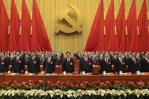 The Communist Party Congress choosing Xi as president for life