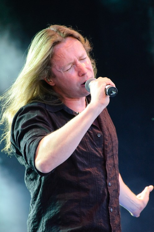 Timo Kotipelto sings LIVE during a music festival in Finland in 2009.