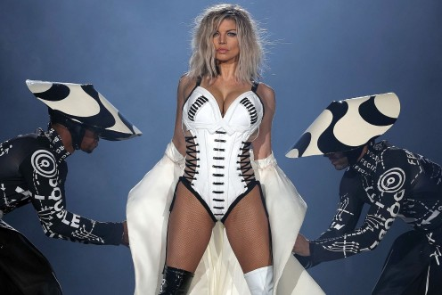 Fergie is the female vocalist for The Black Eyed Peas, with whom she has achieved chart success worldwide.  She has also enjoyed a long string of solo singles, along with many more hits with the Peas. Her latest solo album was released in 2017.