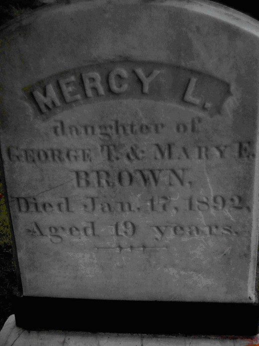Mercy Brown's grave in Rhode Island.
