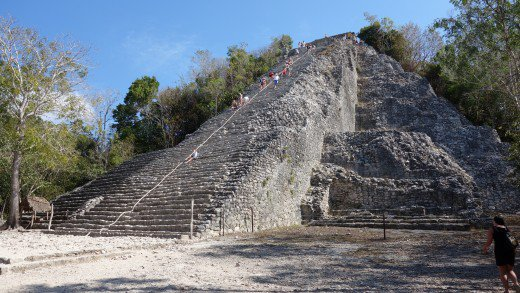 Nohuch Mul, the tallest pyramid in Coba.