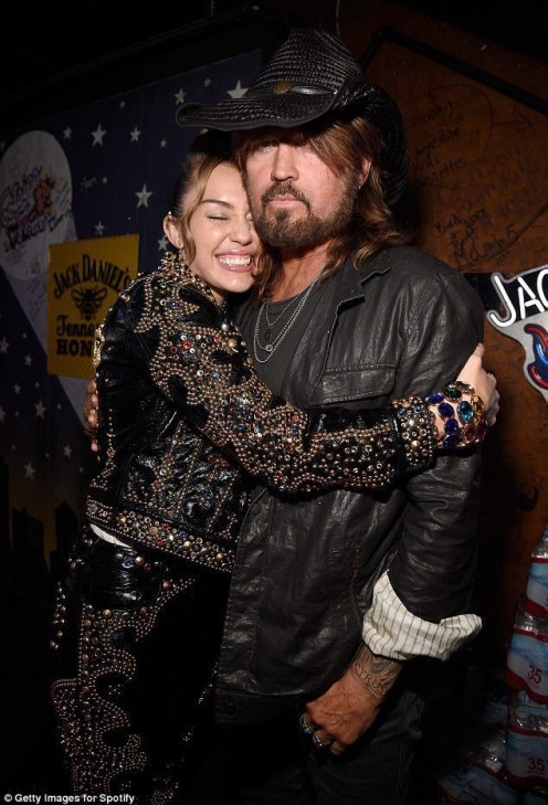 Miley and her pa