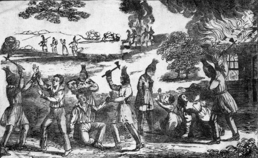 Wars between European settlers and Native tribes were frequent and very violent.  The bloody history helped cement racism and animosity between the races generations later and extends to other races as well.