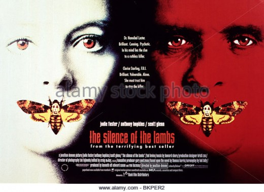 """""""The Silence of the Lambs"""" (1991) - Our first encounter with Hannibal Lecter (played by Anthony Hopkins)"""