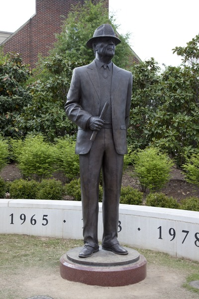 Paul Bear Bryant statue to join Nick Saban statue outside Bryant Denny Stadium, Tuscaloosa, Al.