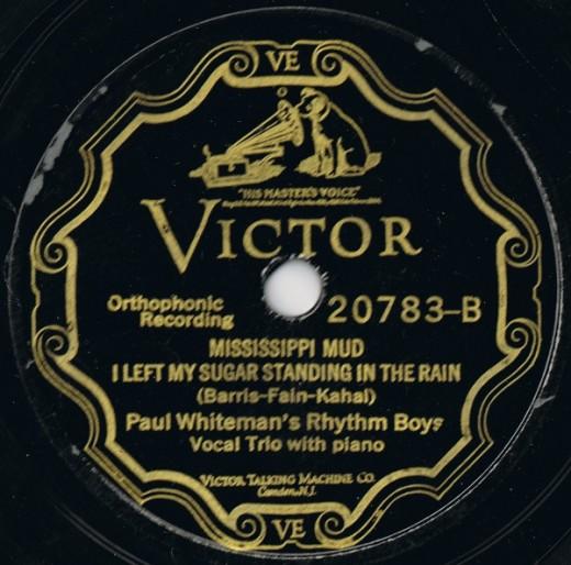Missippippi Mud  1927 Rhythm Boys