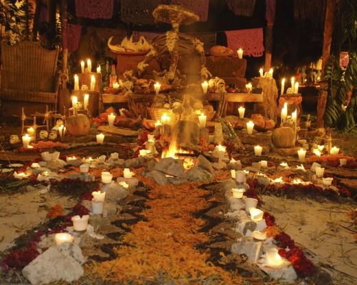 Dia de Muertos altar.