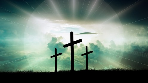 Three Crosses next to each other.