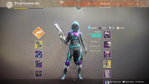 how to get 305 destiny 2