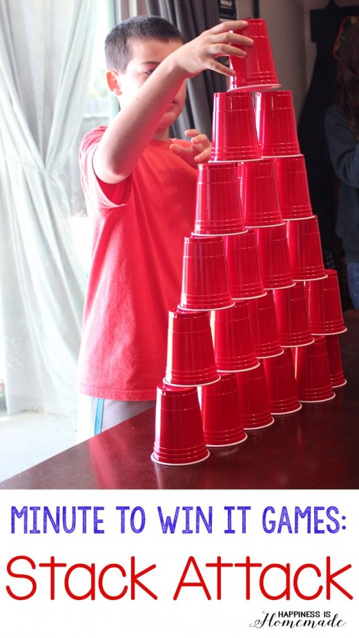 Play some fun Christmas party games using plastic cups
