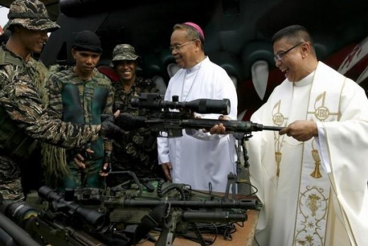 would jesus approve of the blessing of weapons?