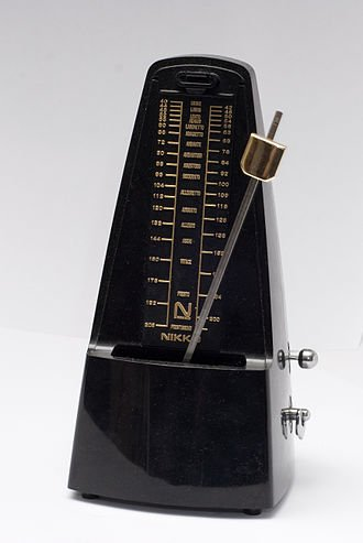 A Metronome is an important tool used by musicians to help the keep steady time while practicing their music.