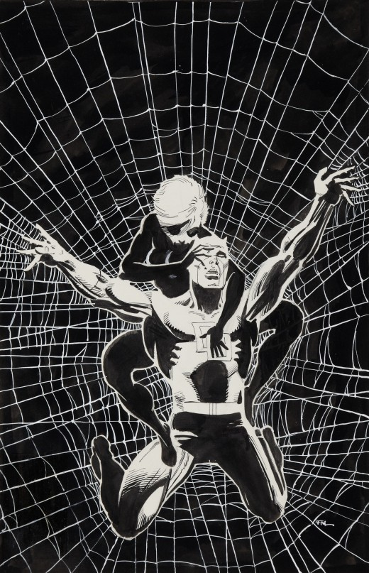 Original cover art for Daredevil #188 by Frank Miller.