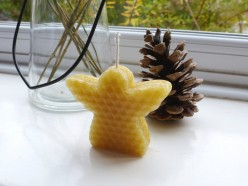 Make a Cookie Cutter Christmas Angel Candle