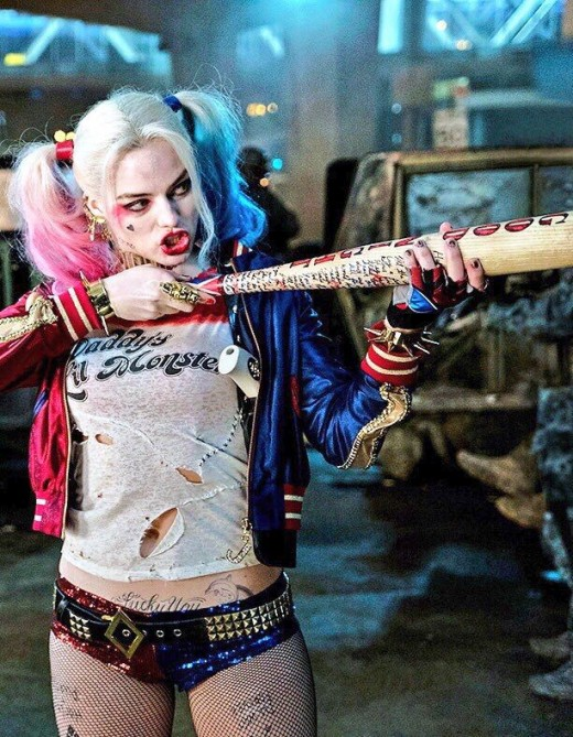 Harley Quinn is ready to go out for Halloween in this classic costume look from Suicide Squad