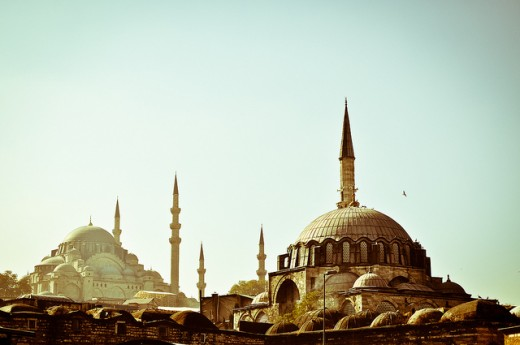 The beautiful architecture of Istanbul's structures.