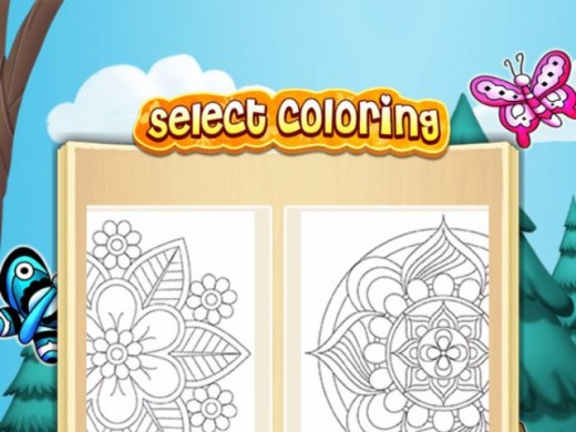 In the coloring book feature you will find 100+ pictures of all types.