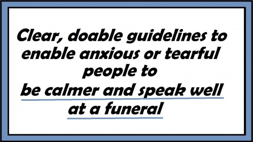 How to Speak Well at a Funeral or Memorial Service