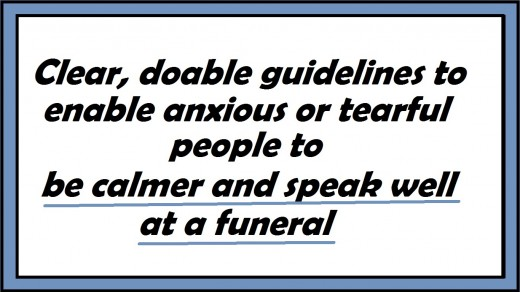 How to Speak Well at a Funeral