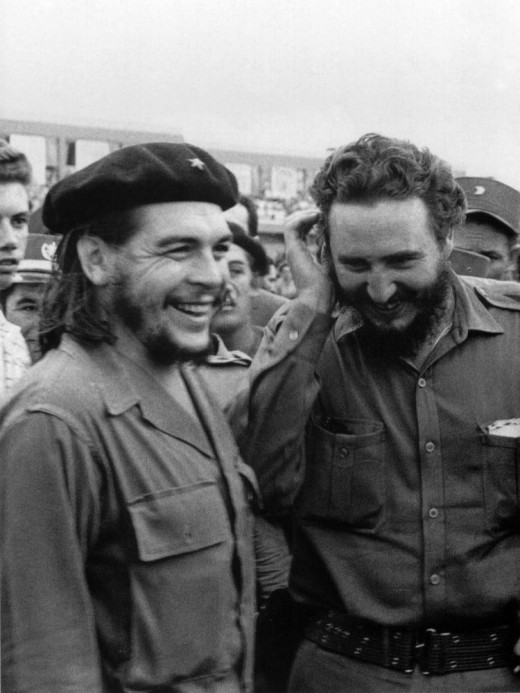 Che Guevera (R) and Fidel Castro (L) lead the revolution in Cuba and in the beginning were close friends. As the his government reigned, Castro became more focused on cementing his control than the Communist ideals.  Che still believed in them.