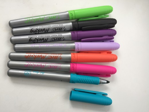 Some Bic 'Mark it' permanent markers.