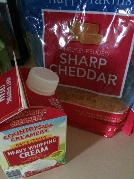 Cheese and heavy cream