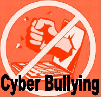 Poster illustrating the dangers of cyberbulying