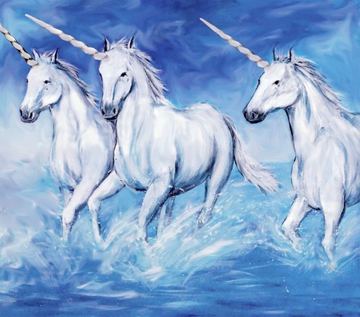 Unicorns choose only the most magical and imaginative of people.