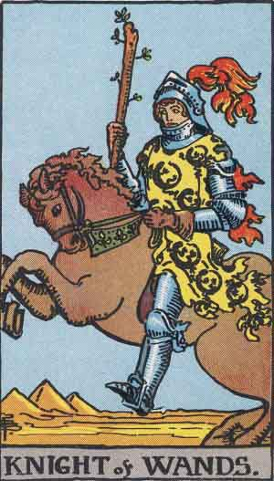 LIBRA-The Knight of Wands