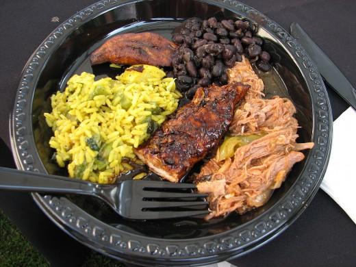 Caribbean dinner