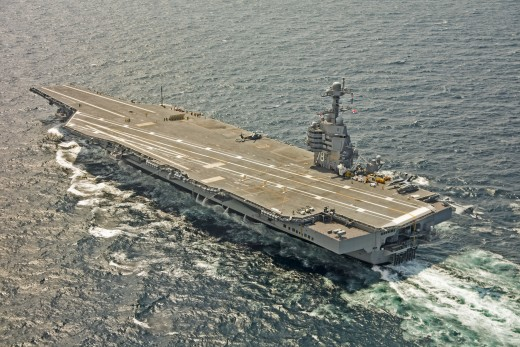 This is the USS Gerald R. Ford.