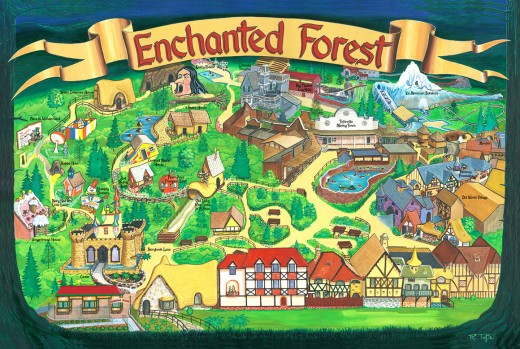Map of the Enchanted Forest