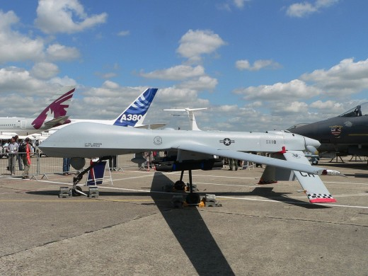 A Predator, Serial Number AF03-118, at the Paris Air Show 2007.