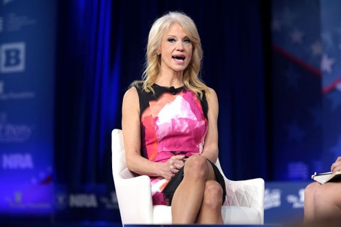 Kellyanne Conway speaks at 2017 (CPAC) Conservative Political Action Conference.