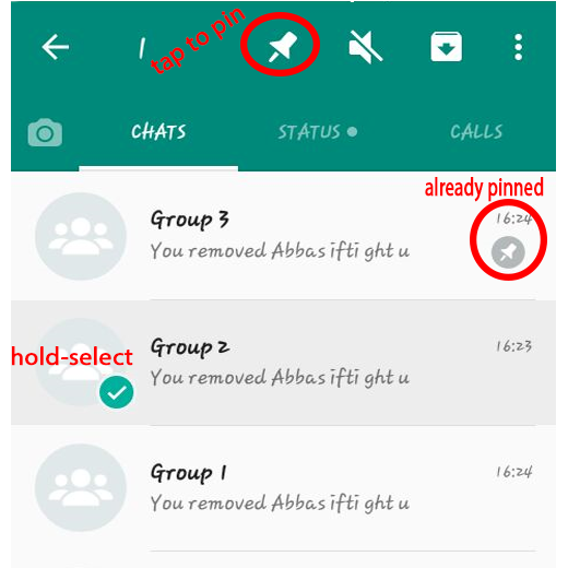 how to pin important converstion in whatsapp