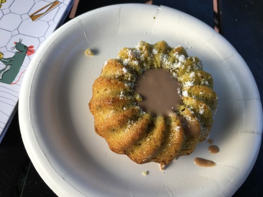 The pistachio cake from India was one of my favorites.