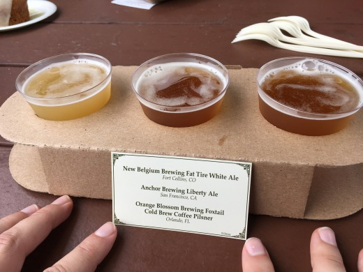 Several kiosks had beer flight options, which were actually very reasonably prices considering the price for 1 beer.