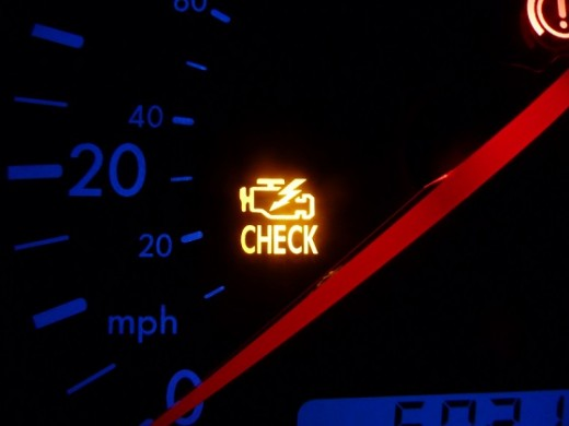 "An illuminated ""Check Engine"" light will cause you to fail your emissions test."